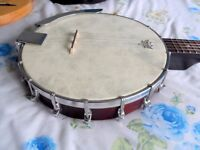 Ozark 5 string travel banjo with case (REDUCED TO £130)