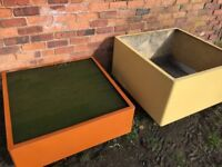 Fish Pond / Raised Planter / Garden Trough x 2, Large Sturdy Fibreglass