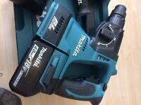 MAKITA LXT BL MOTOR BRUSHLESS 18V LITHIUM-ION SDS DRILL AND HAMMER DRILL SET DHR242RMJ