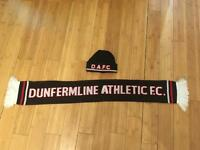 Toddler hat and scarf set Dunfermline Athletic as nee