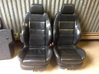 RECARO BLACK LEATHER INTERIOR Golf MK4 BORA LEON Caddy Fabia