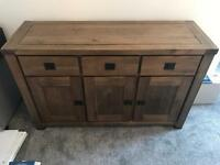Solid wood sideboard good condition