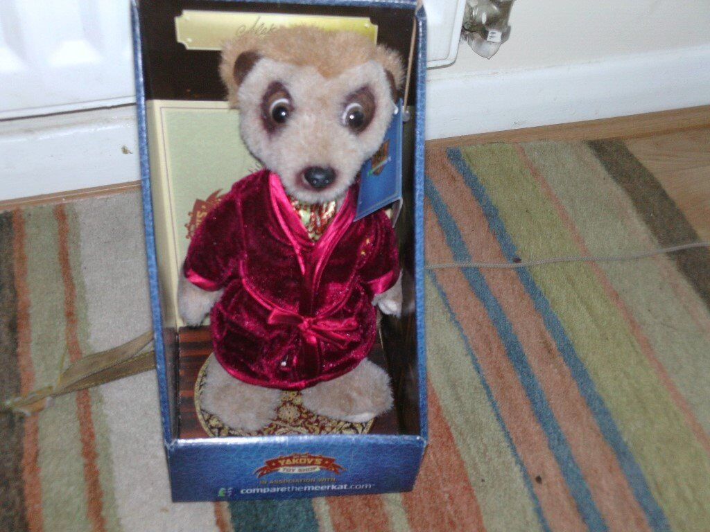 meerkat cuddly toyin Boston, LincolnshireGumtree - meer kat cuddly toy very good condition like new still boxed with certificate