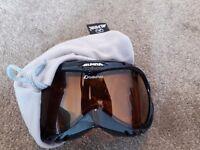 Alpina skiing goggles