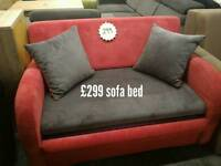 Red grey Sofa bed
