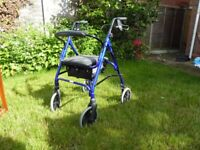 Days Patterson Medical 4-Wheeled Mobility Walker with Seat & Storage model 105b