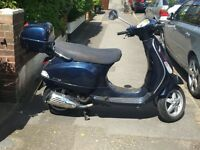 Used Vespa in good condition. One previous owner