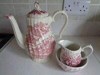 Myott's Staffordshireware 'Royal Mail' coffee/teapot, sugar and cream set