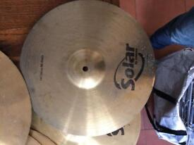 Sabian Solar cymbals and stands