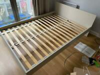 Almost new IKEA GURSKEN double bed frame