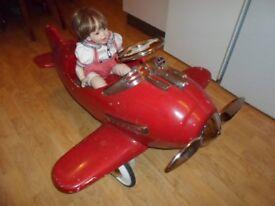 Vintage Tin Pedal Aeroplane.