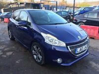 Peugeot 208 1.6 VTi Allure 5dr£6,485 p/x welcome 1 YEAR FREE WARRANTY. NEW MOT