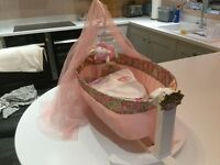 Baby Annabelle doll and cradle
