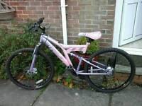 Lady's muddy fox full suspension mountain bike