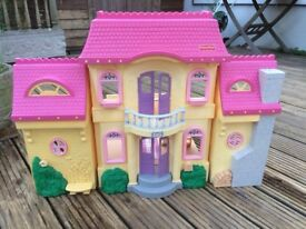 Dolls house, large dolls house opens out, some furniture, excellent condition.