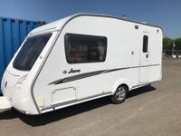 Swift Jura 2/berth 2009 Awning end separate cassette toilet and shower
