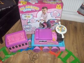 Kids ride along toy train