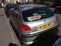 Peugeot 206, 1.4 petrol, 53 plate, long mot, good condition, cheap to tax, insure, nice CD player