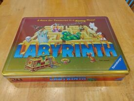 Labyrinth Family Board Game - Metallic Tin Version - Immaculate