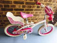 "Girls Princess 16"" wheel bike ( age 4-7 )"