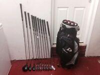 Golf Clubs-Wilson Deep Red Golf Clubs full matching set-Driver-Hybrids-Irons-Putter-Golf Bag & more
