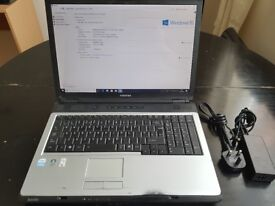 17 inch Toshiba Laptop *Fully Working* Reconditioned. Windows 10