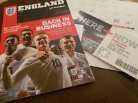 HARRY KANE DEBUT ENGLAND FOOTBALL PROGRAMME MINT