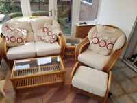Conservatory Suite (Sofa, Armchair, 2 Side Tables, Foot Stool)