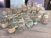 48 Decorated Jars - String/Hessian/Jute