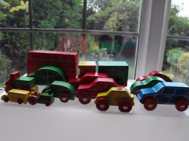 Early Learning Centre retro wooden toy vehicles
