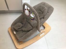 Mamas & Papas Baby Bouncer Rocker Chair Fabric Wooden *Excellent Condition*