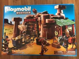 Playmobil set & wrestling set brand new