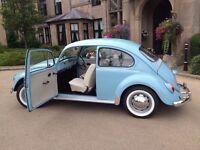 1970 VW Beetle 1200 (Restored) Marina Blue/Ivory