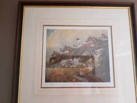 4 yes Four !! Framed horse prints by Mary Barrett