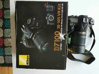 Digital Nikon d7100 slr camera with 18-105mm VR lens kit