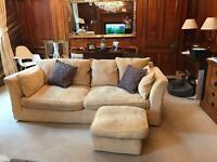 Three and two seater settees and a chair