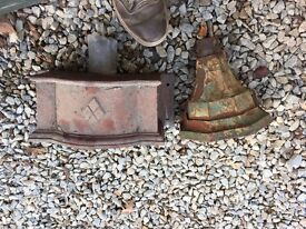 Antique Decorative Drain hoppers x2