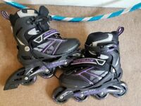 Purple women's rollerblades - UK Size 5