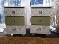 Pair of Upcycled Bedside/Chest of Drawers