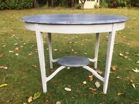 Hand Painted Oak Shabby Chic Occasional Table in paris grey