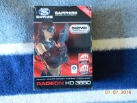 Radeon 3650 512Mb DDR2 GPU *Mint Condition*