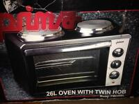 Small oven and hob