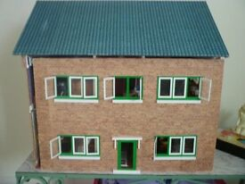 Dolls House (~ 2ft x 2ft x 1.5 ft) and Furniture