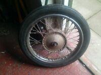 Triumph Bonneville front wheel