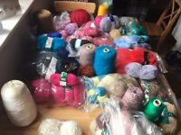 Knitting wool job lot