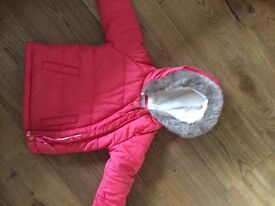 Girls Marks and Spencer coat aged 9-12 months