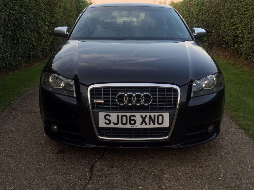 2006 06 audi a3 s line 2 0 tdi manual diesel black 140 3dr hatchback in chesham. Black Bedroom Furniture Sets. Home Design Ideas
