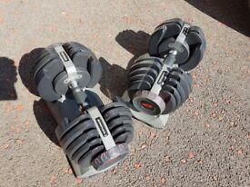 Bowflex selectable dumbbells
