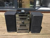 Pioneer F-P 710 separates stacking stereo 80w speakers
