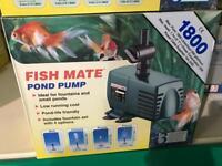 Fish mate 1800 pond pump